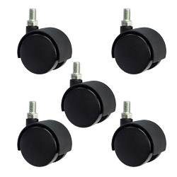"2"" office chair casters - metric 8mm threaded set of 5"