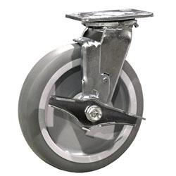 "SCC 8/"" x 2/"" Thermoplastic Rubber Wheel Rigid Caster 600lbs//Caster"