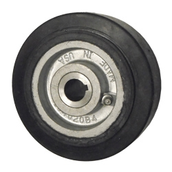 5 Quot X 2 Quot Rubber On Cast Iron Keyed Drive Wheel 3 4 Quot Bore
