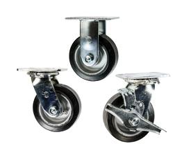rubber tread on aluminum core wheel casters