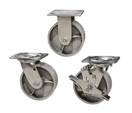 semi steel and cast iron casters