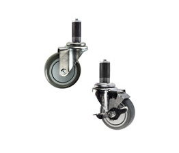 stainless steel expanding stem casters