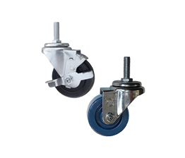 threaded stem stainless steel casters