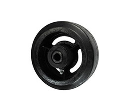 Rubber on Cast Iron Wheel