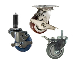 Stainless Steel Casters with Locks