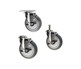 light duty casters with brakes